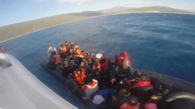 Urla açıklarında 50 sığınmacı yakalandı!