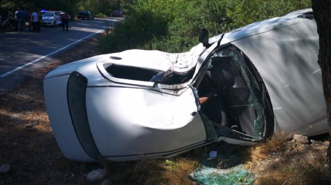 Urla'da trafik kazası: 1 ölü, 2 çocuk yaralı