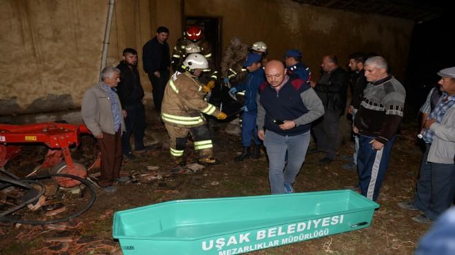 Uşak'ta yangın faciası: Yanarak öldü!