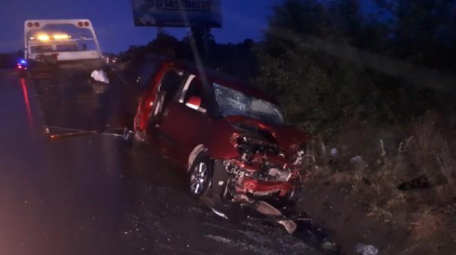Uşak'ta trafik kazası: 2 ölü, 5 yaralı