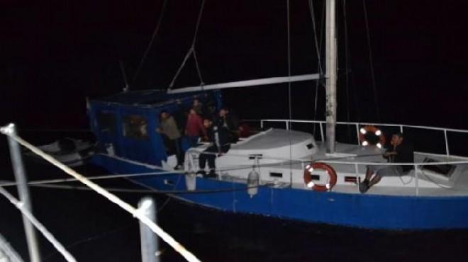 Yelkenliye mülteci operasyonu: 53 gözaltı!